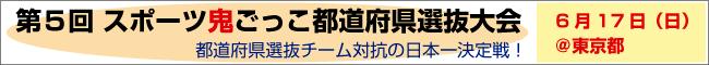 第5回スポーツ鬼ごっこ都道府県選抜大会inヤマトフォーラム